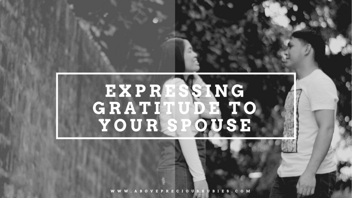 Expressing Gratitude to Your Spouse